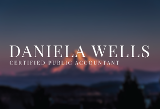 Daniela Well's accounting website by Pegasus